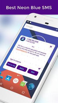 Best Neon Blue SMS screenshot 4