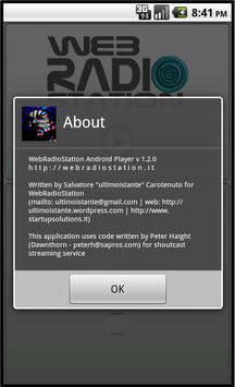 WebRadioStation Player screenshot 1