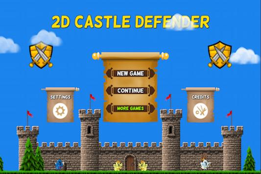 2D Castle Defender poster
