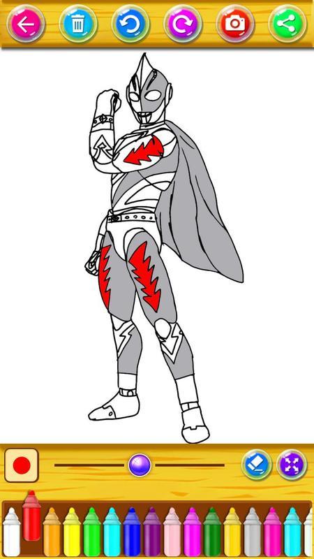 Buku Mewarnai Untuk Ultraman Zero Cosmos For Android Apk Download