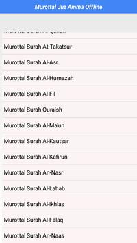 Audio Murottal Juz-Amma Offline apk screenshot