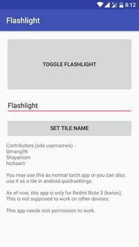Flashlight Tile Fix Kenzo screenshot 1