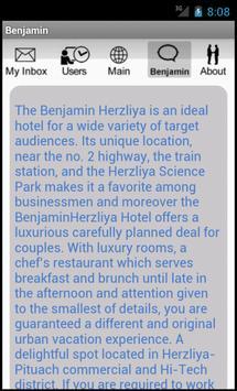 Benjamin Herzliya Bus. Hotel apk screenshot