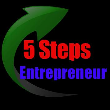 5 Steps To Be An Entrepreneur poster