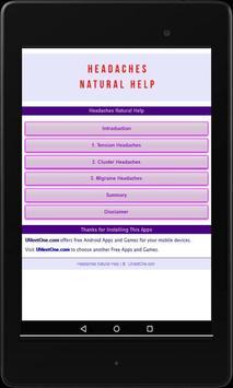 Headaches Natural Help apk screenshot