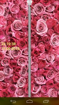 Rose Zipper Screen Lock poster