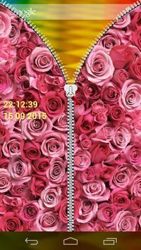 Rose Zipper Screen Lock apk screenshot