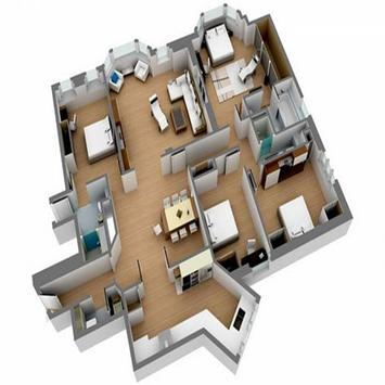 House Plan 3D Design poster