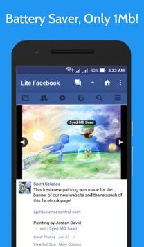 Lite for Facebook - Fast & Secure screenshot 4