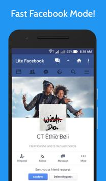 Lite for Facebook - Fast & Secure poster