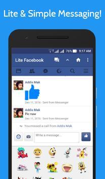 Lite for Facebook - Fast & Secure screenshot 2