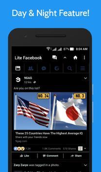 Lite for Facebook - Fast & Secure screenshot 3