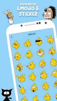Ruthe Cartoons - Emoji & Sticker Keyboard App poster