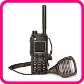 Police radio scanner prank icon