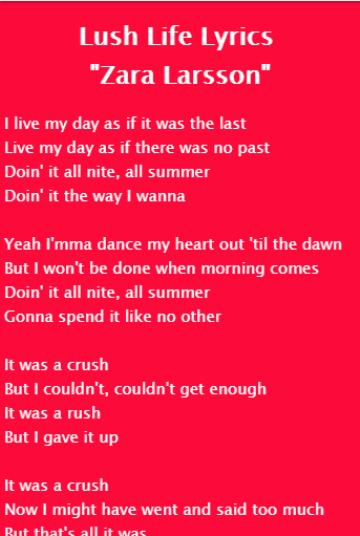 Zara Larsson - Uncover Lyrics for Android - APK Download