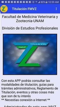Titulación FMVZ poster
