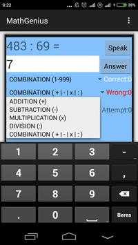 Math Genius apk screenshot