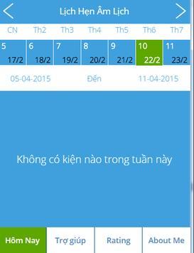 Lịch Hẹn Âm Lịch -  Sự Kiện apk screenshot