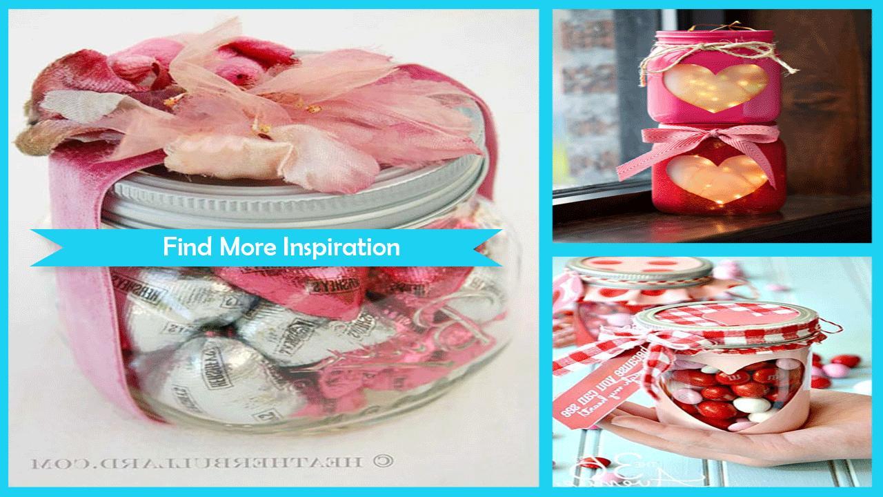 Cute Valentines Mason Jar Ideas poster