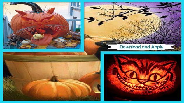 Simple DIY Black Cat Pumpkins poster