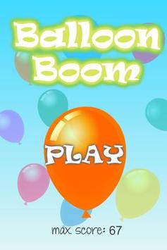 Balloon Boom for kids screenshot 1