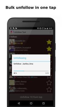 Unfollow Tool for big accounts apk screenshot