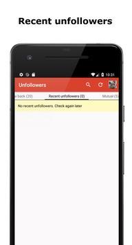 Unfollowers - followers analytics screenshot 1