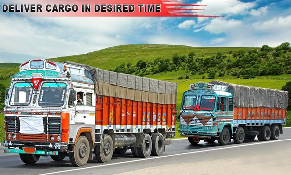 Indian Truck Driver Cargo New poster
