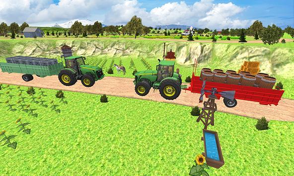 Farm Transport Tractor Games 2018 apk screenshot