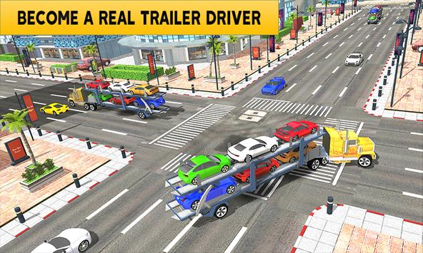Heavy Luxury Car Transport Trailer New 2018 apk screenshot