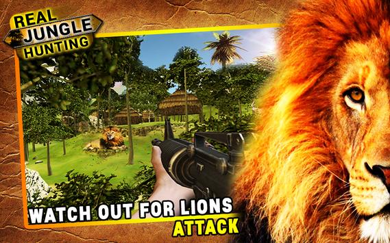 Real Jungle Hunting Ekran Görüntüsü 2
