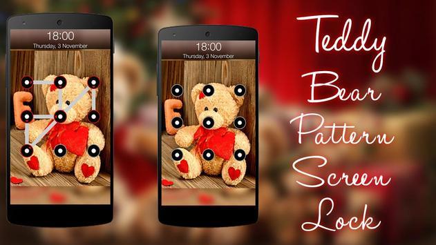 Teddy Bear Pattern Screen Lock screenshot 2