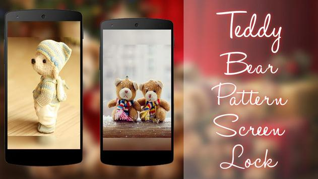 Teddy Bear Pattern Screen Lock screenshot 3