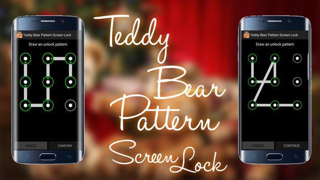 Teddy Bear Pattern Screen Lock screenshot 6