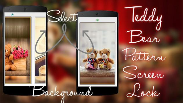 Teddy Bear Pattern Screen Lock screenshot 7