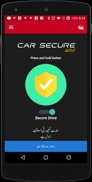 CAR Secure Gold poster
