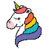 Unicorn - Color by Number Sandbox Coloring Pages icon