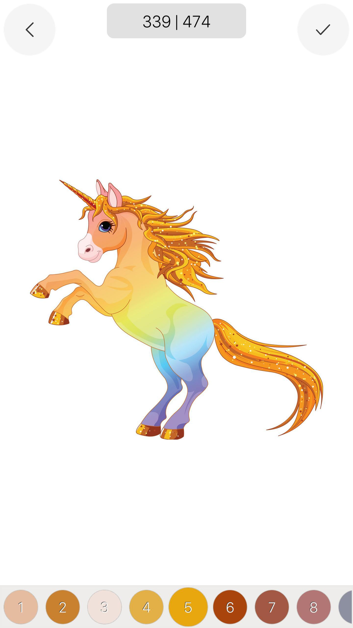 Unicorn - Color by Number Sandbox Coloring Pages for ...
