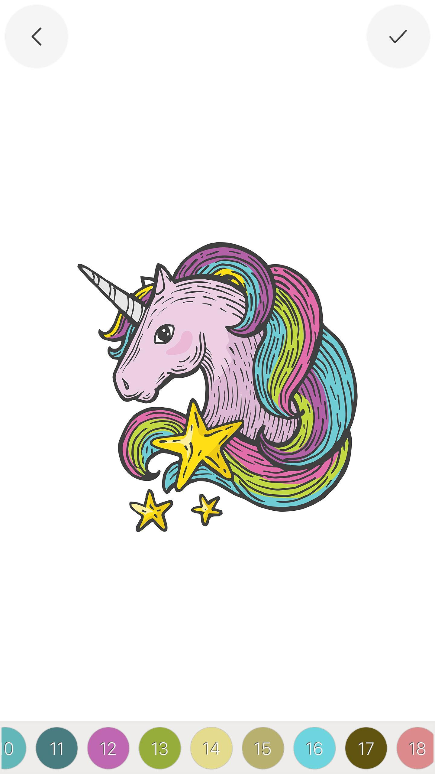 Unicorn Color by Number Sandbox