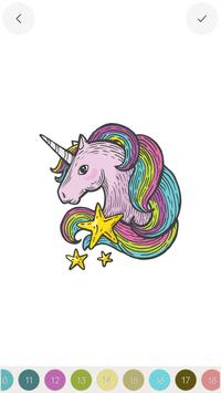 Unicorn - Color by Number Sandbox Coloring Pages screenshot 1