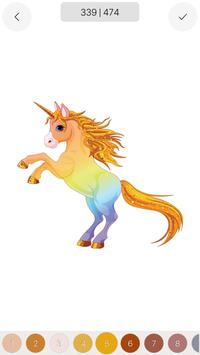 Unicorn - Color by Number Sandbox Coloring Pages screenshot 7