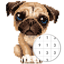 Unicorn Pug - Color By Number & Pixel No Draw APK