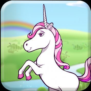 Cute Flappy Unicorn poster