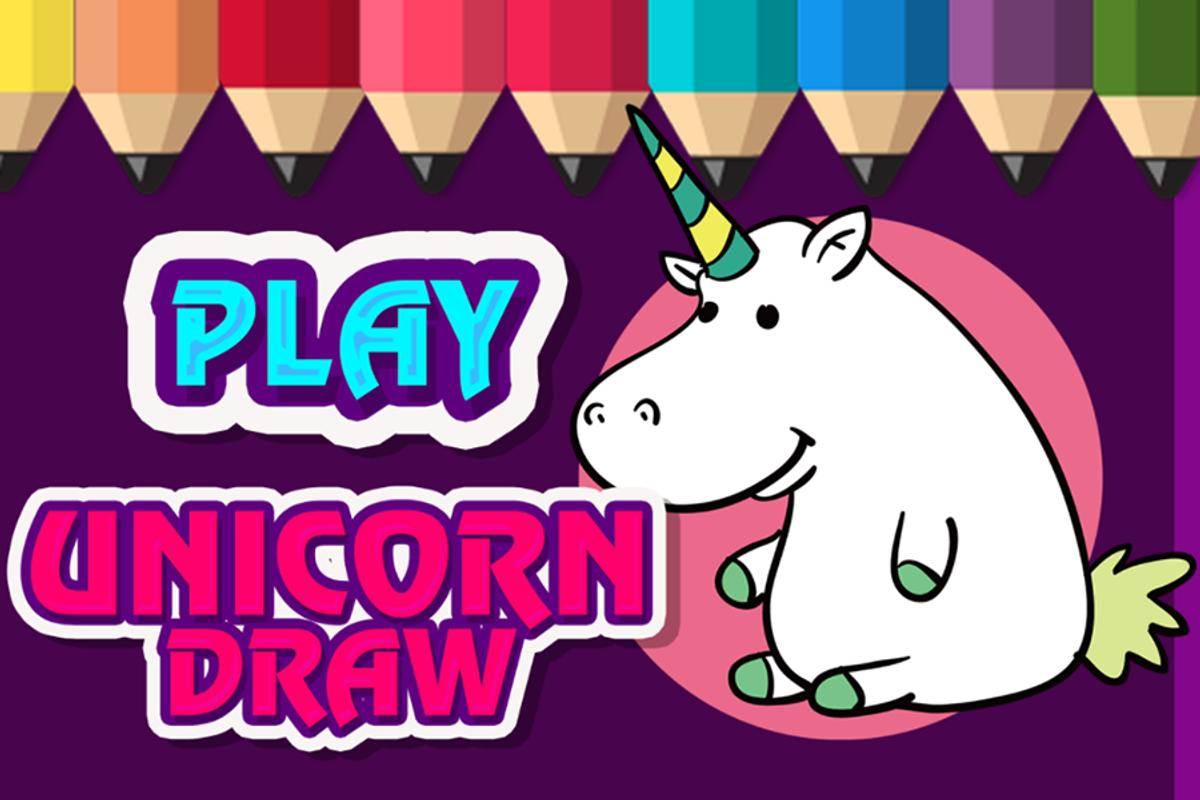Unicorn draw learn to draw coloring pages poster