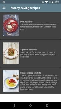Money-saving recipes screenshot 1