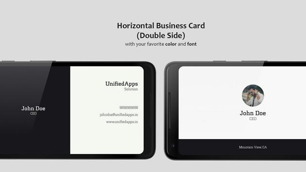 Business Card Maker تصوير الشاشة 4