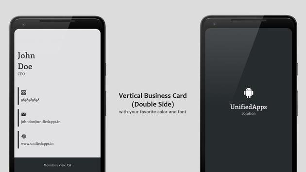 Business Card Maker تصوير الشاشة 5