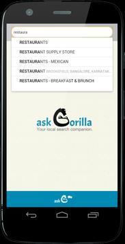 askGorilla - Local Search apk screenshot