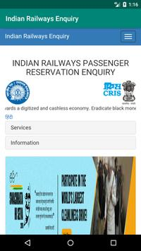 Indian Railways Enquiry poster