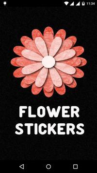 Flower Stickers for watsapp poster